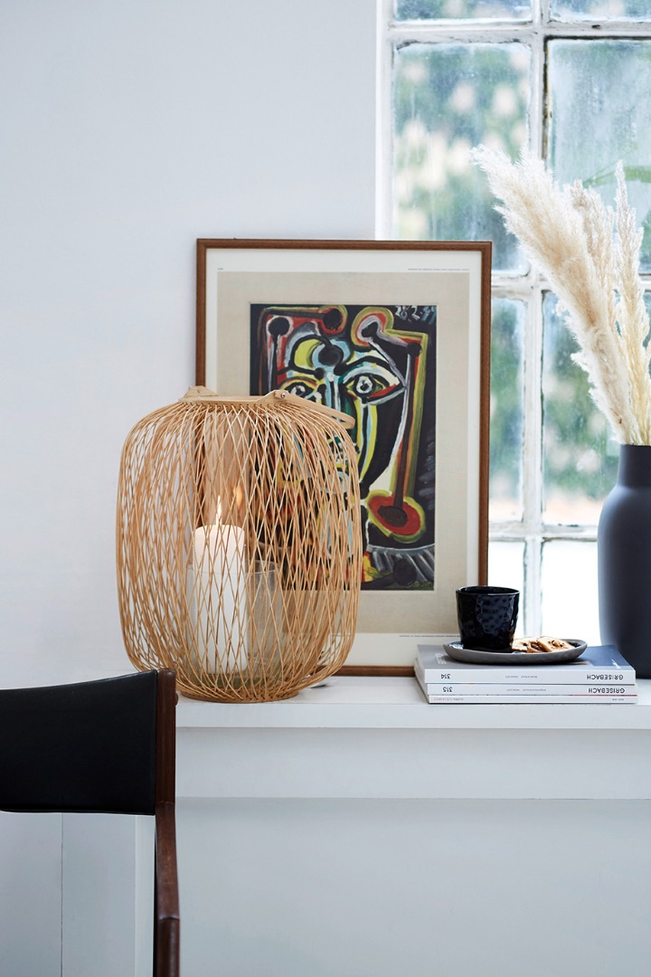 Laterne aus Bambus 35x65cm