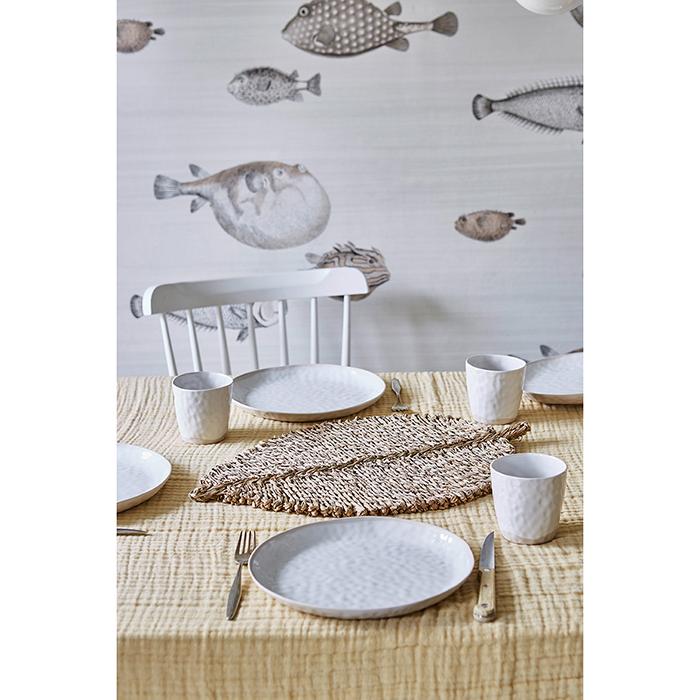 Liv Interior Decke AURA Biobaumwolle LAKE