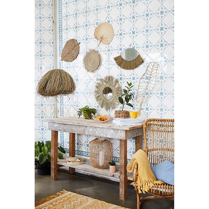 Liv interior Seegras Dekoration BIRCH LEAF