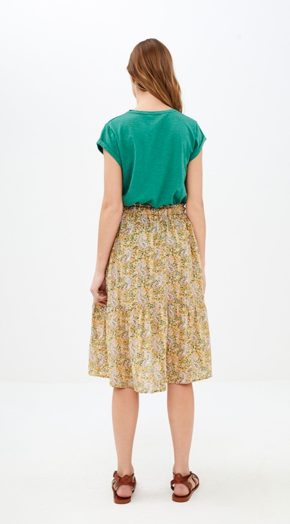 lien paisley skirt - straw 3