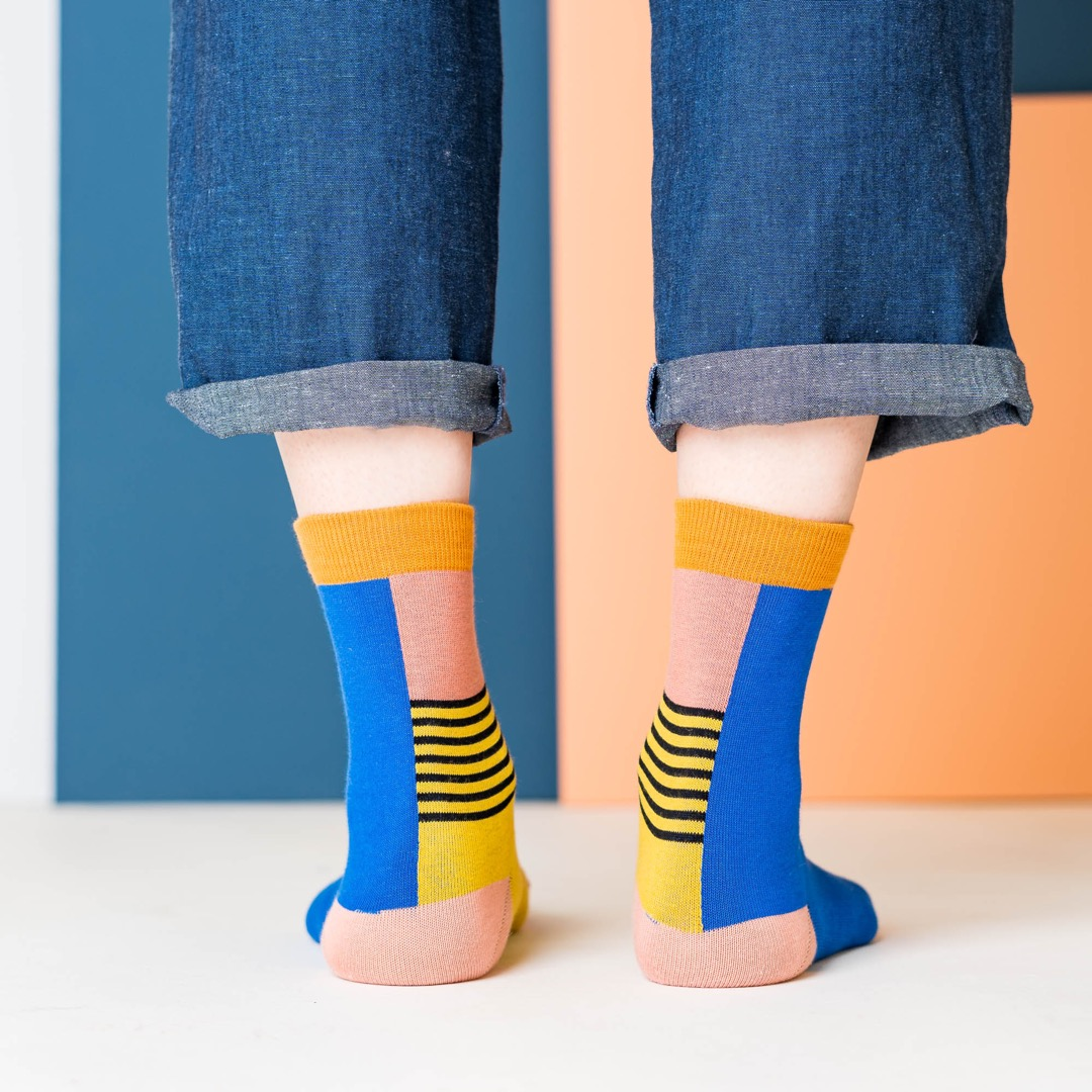 nice socks - halb/halb yellow 3