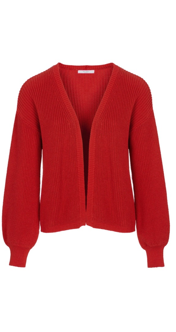 bar cotton cardigan - red 5