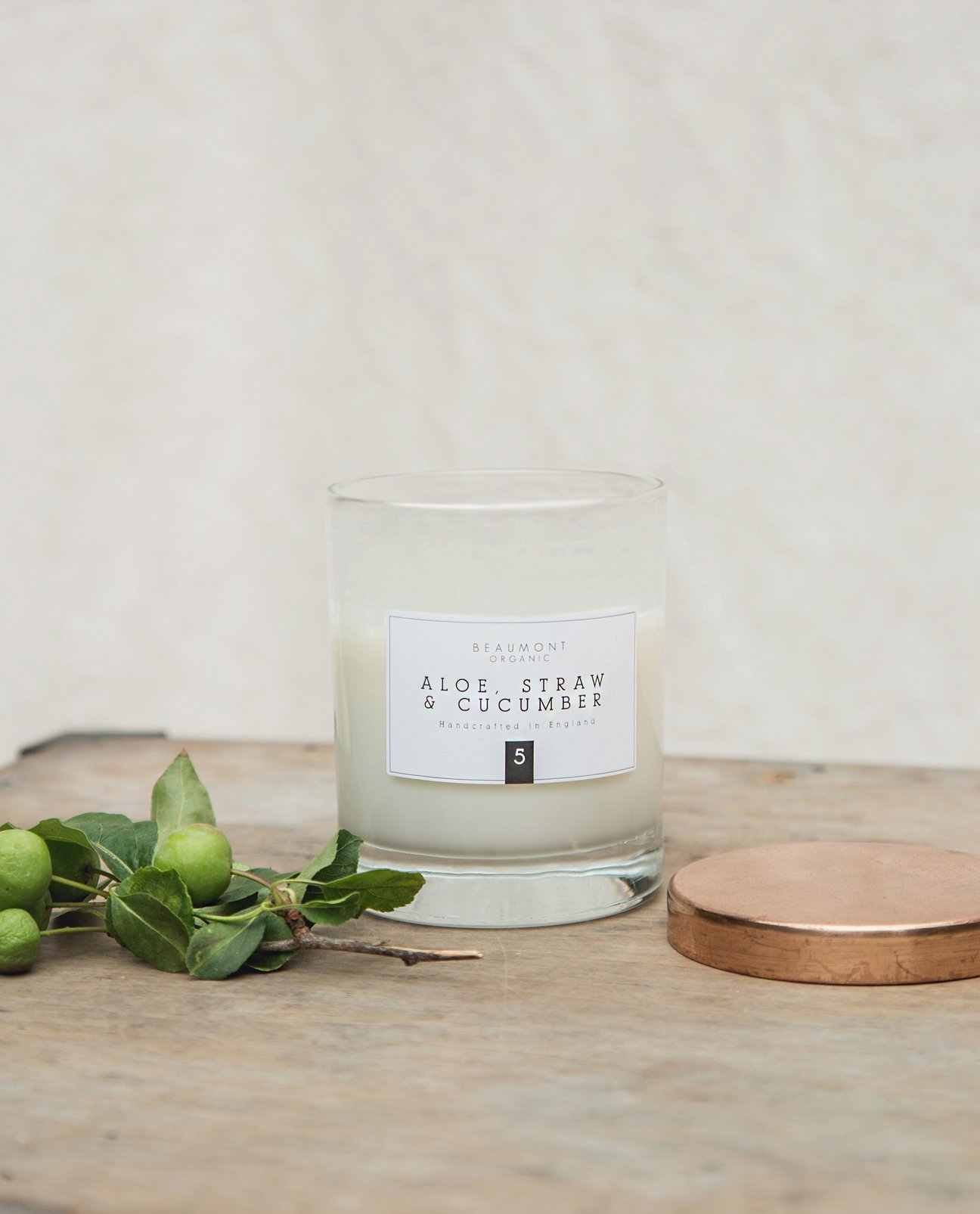 BEAUMONT ORGANIC 30cl Classic Candle With