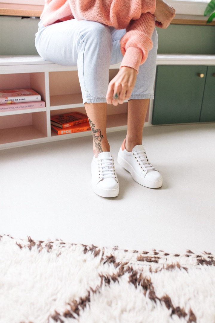 TENNIS SNEAKER - white/cinnamon 3