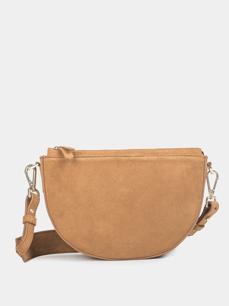 Dani - Suede Old Yellow Schultertasche