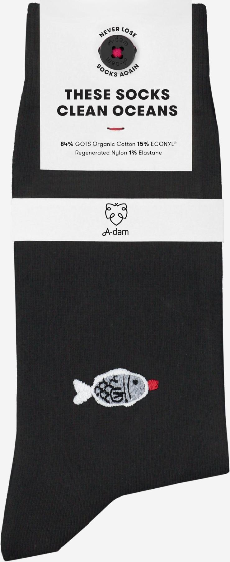 A-dam - Socken DORIEN - Black
