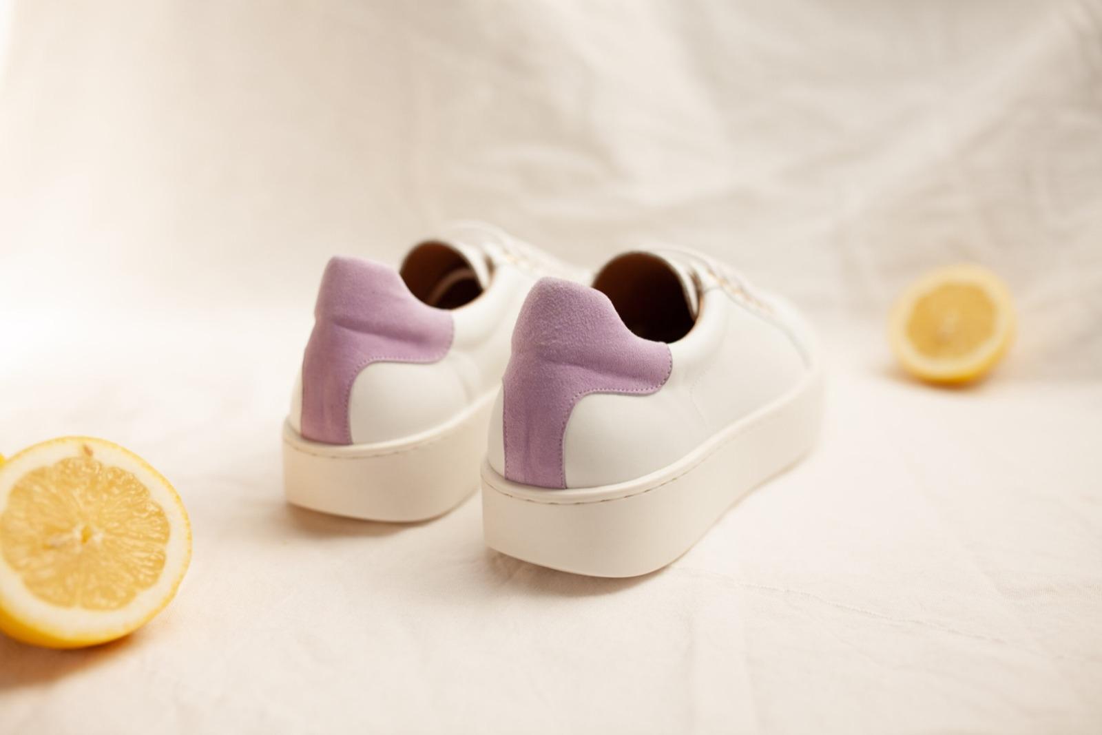 TENNIS SNEAKER - white/lilac 6