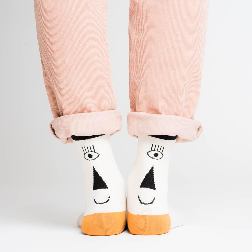 nice socks - halb/halb yellow