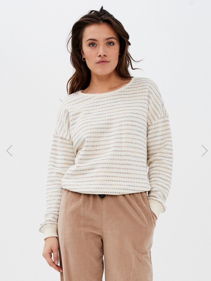 becky multi sweater - off white