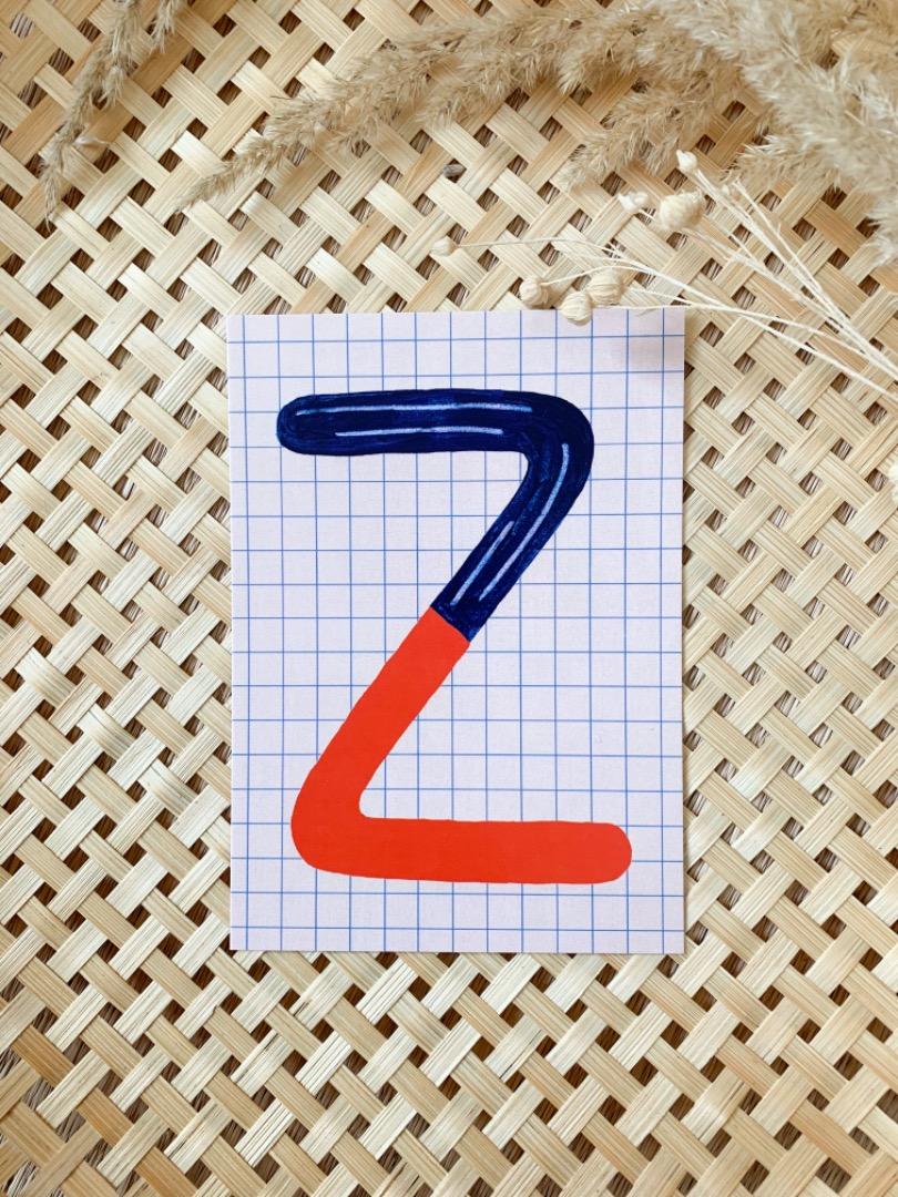 Postkarte - Z