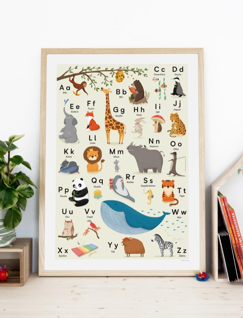 vierundfünfzig illustration - ABC Poster 2
