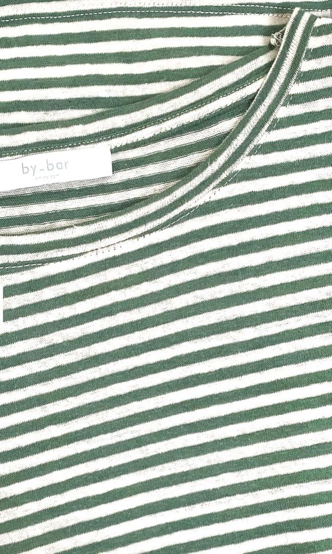 maya linen stripe - agave 5