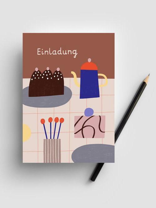 Postkarte - Einladung