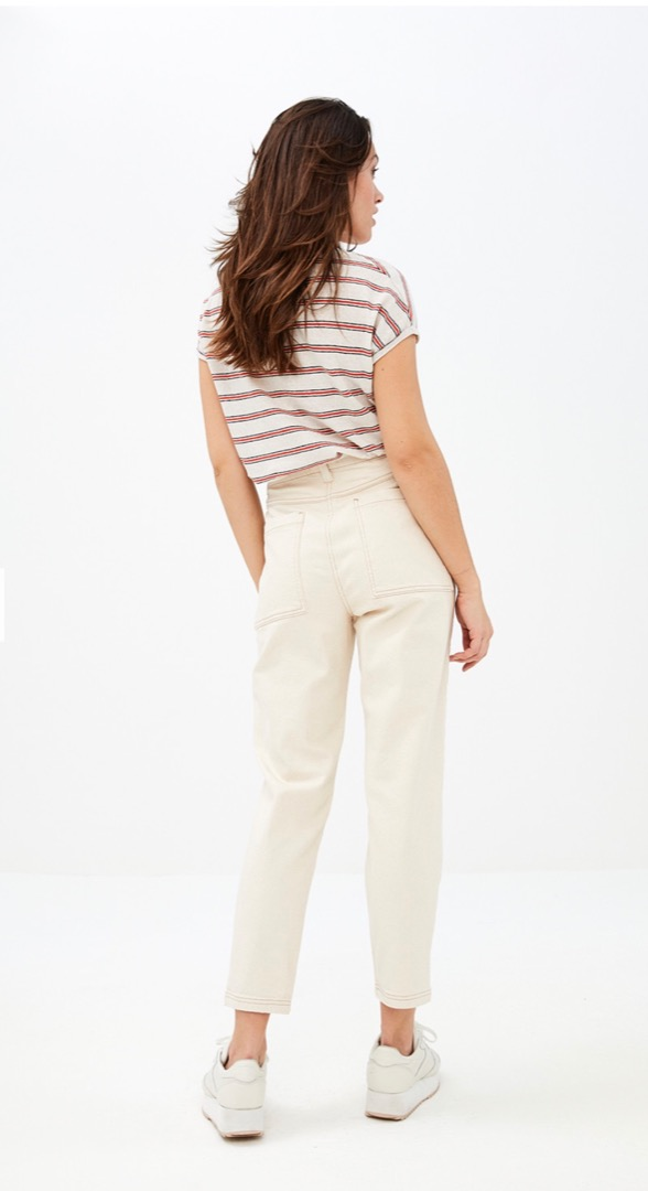 mila linen stripe - pepper 2