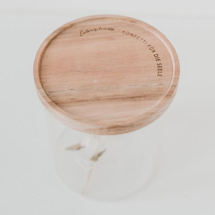 Eulenschnitt - Vorratsglas Herz 13 cm