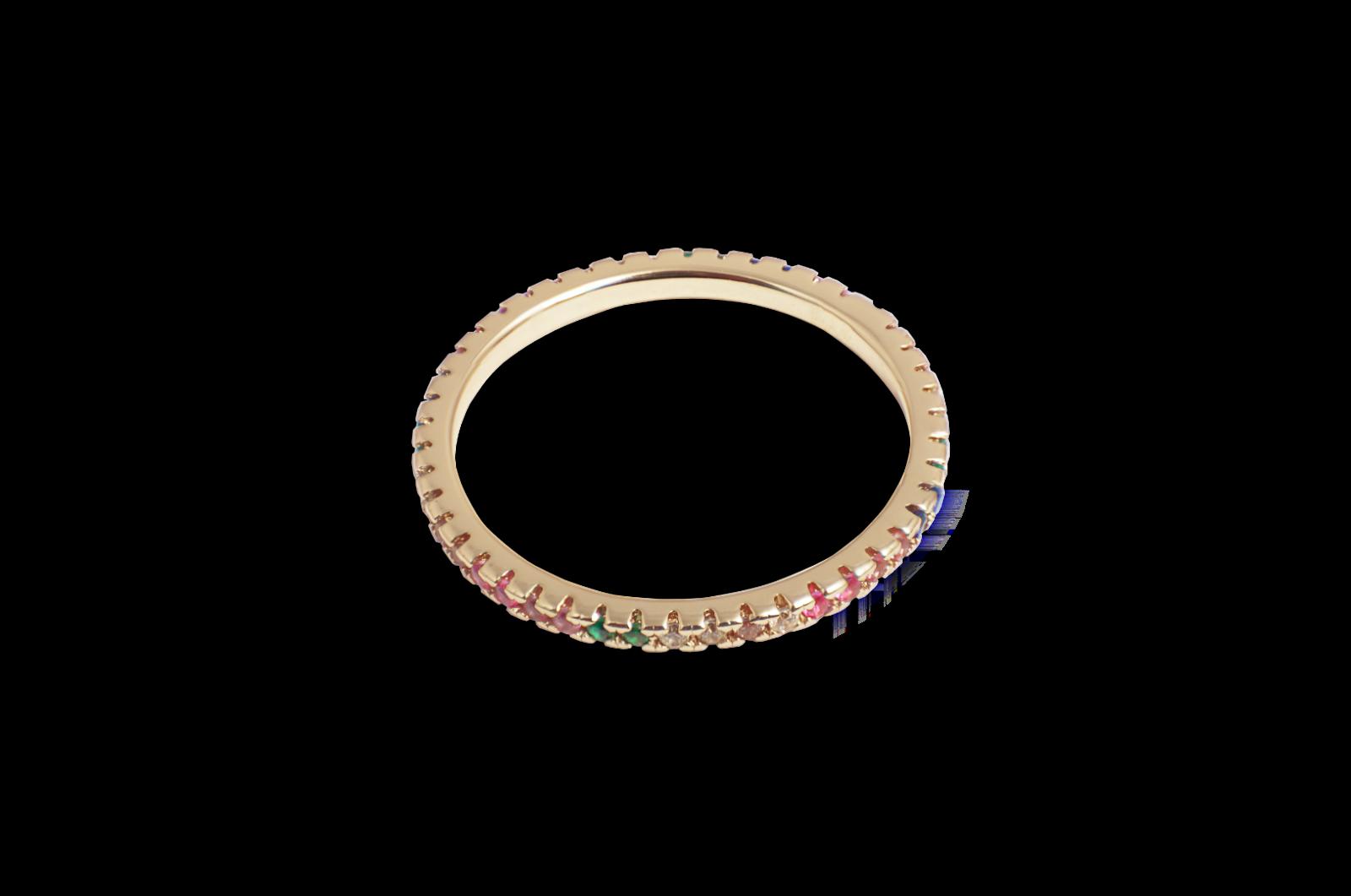 Ring Lilly rainbow 18k