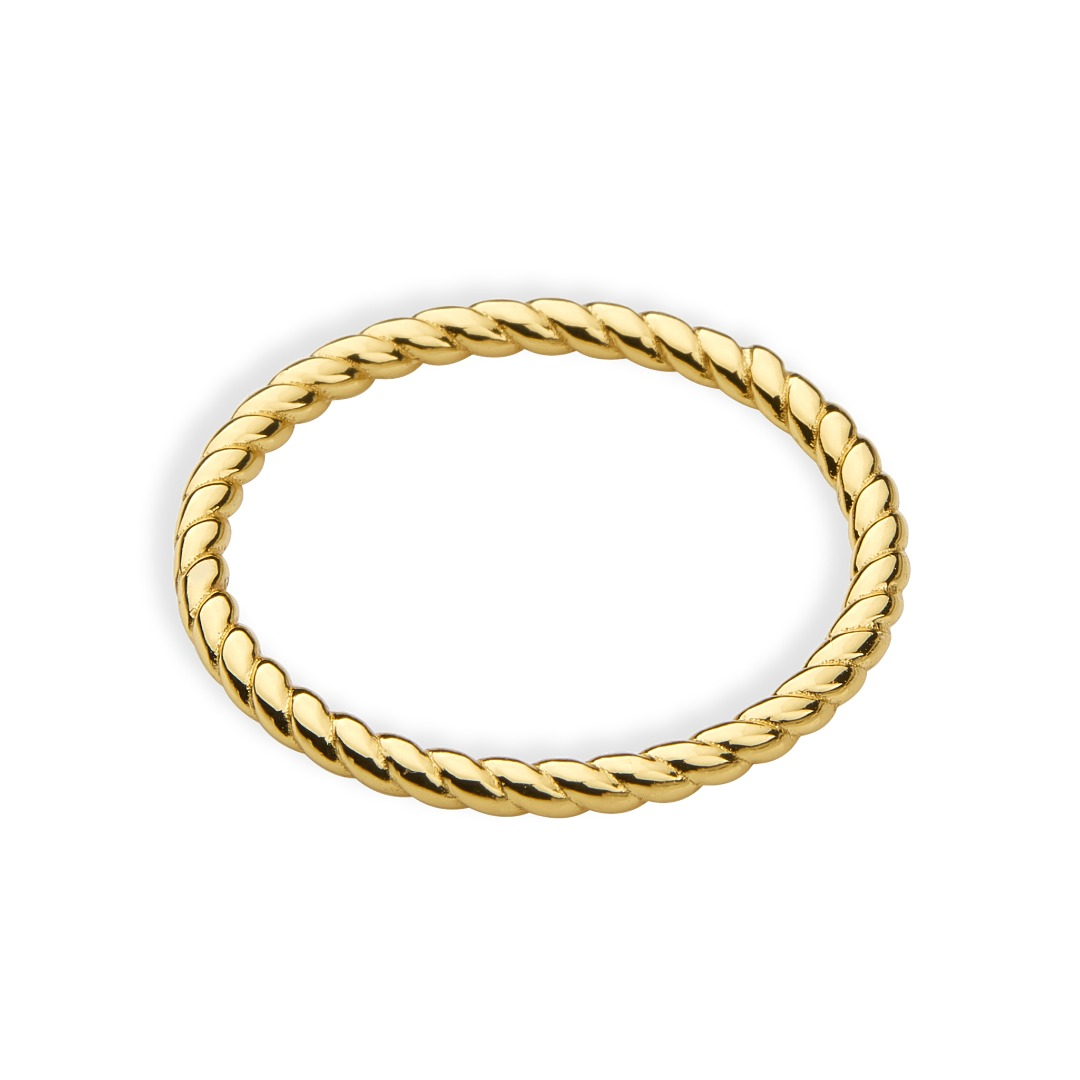 Hello love Ring twisted band slim