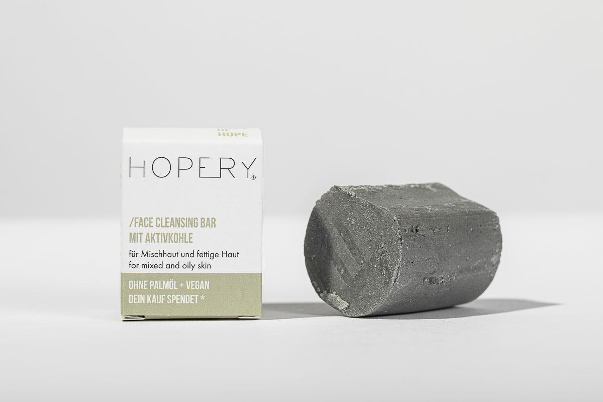 Hopery Face Cleansing Bar mit Aktivkohle