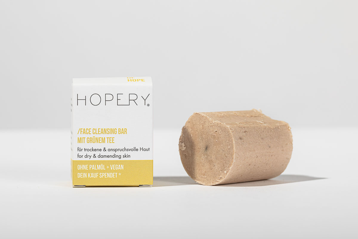 Hopery Face Cleansing Bar mit Grünem