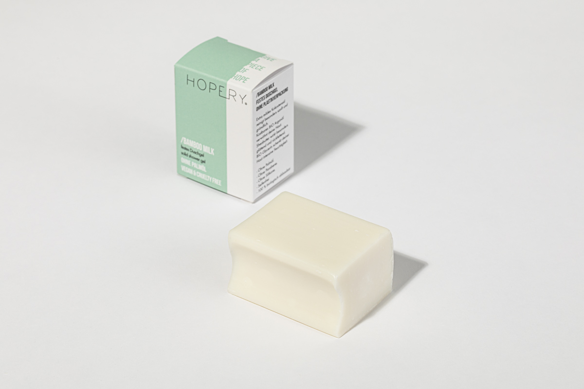 Festes Duschgel ohne plastikverpackung BAMBOO MILK