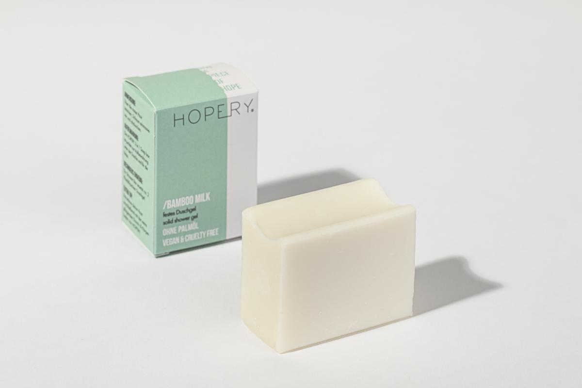 Hopery Festes Duschgel ohne plastikverpackung BAMBOO