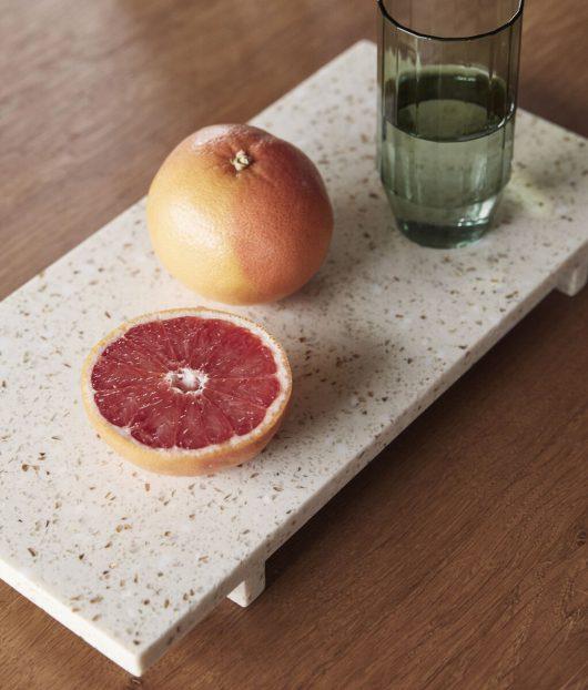 Hübsch Tablett Terrazzo Beige ONLINE EXCLUSIVE