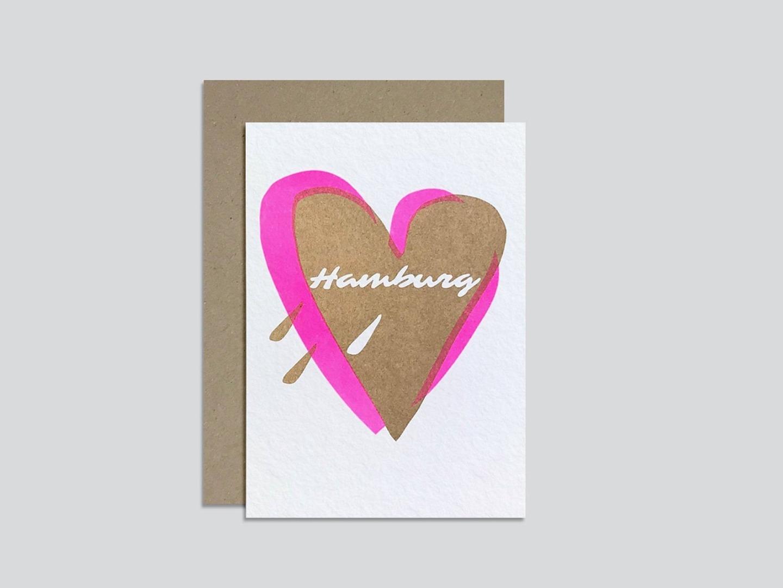 HungryPaper - Klappkarte - Love Hamburg