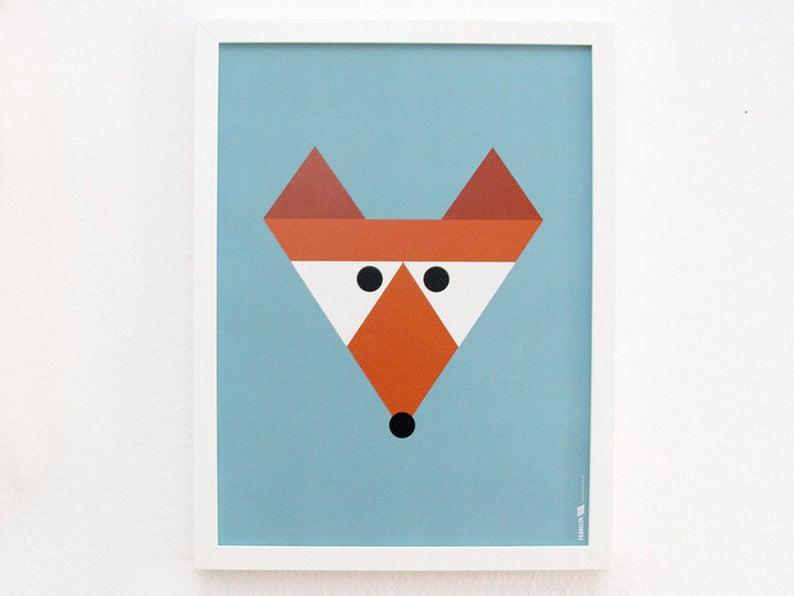 Poster Fuchs 30x40 cm