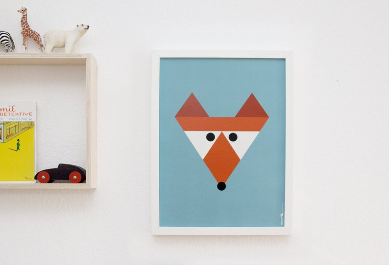 Poster Fuchs 30x40 cm 2