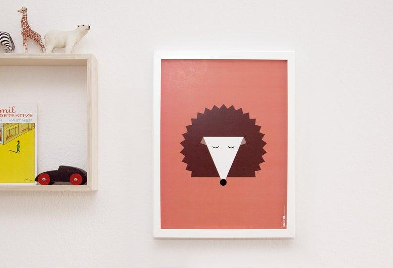 Poster Igel 30x40 cm