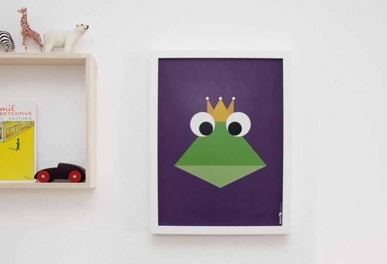 Poster Froschkönig 30x40 cm