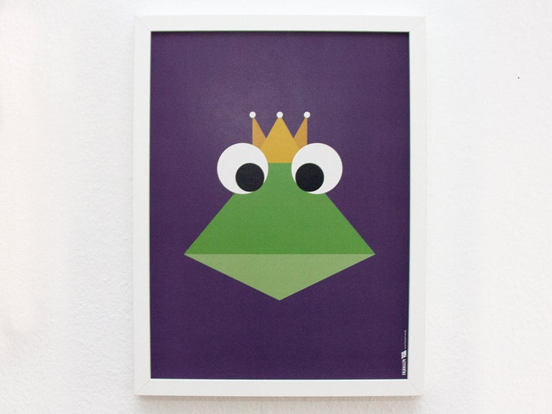 Poster Froschkönig 30x40 cm 2