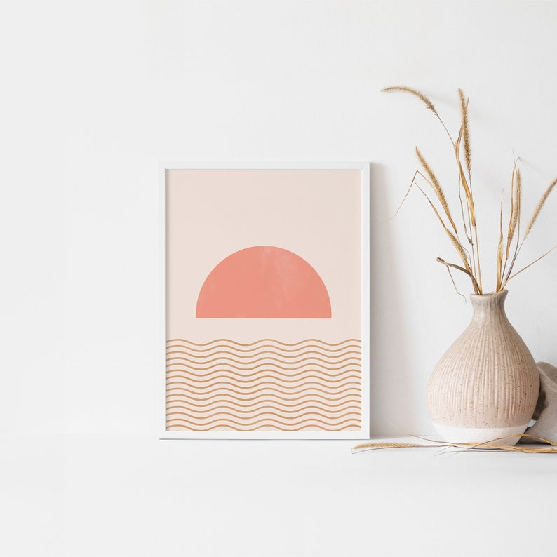 Kunstdruck - Geometric Sunset A4 2