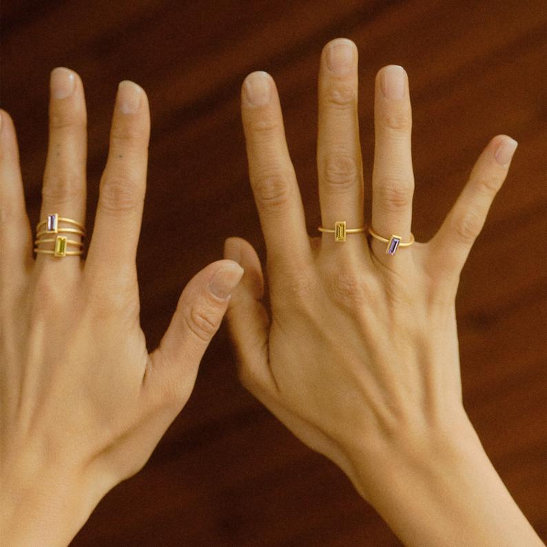 Verstellbarer Ring silbern mit Swarovski Kristall