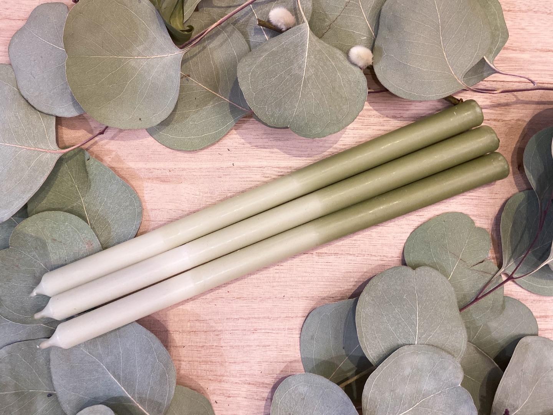 Kerze - schmal - grün