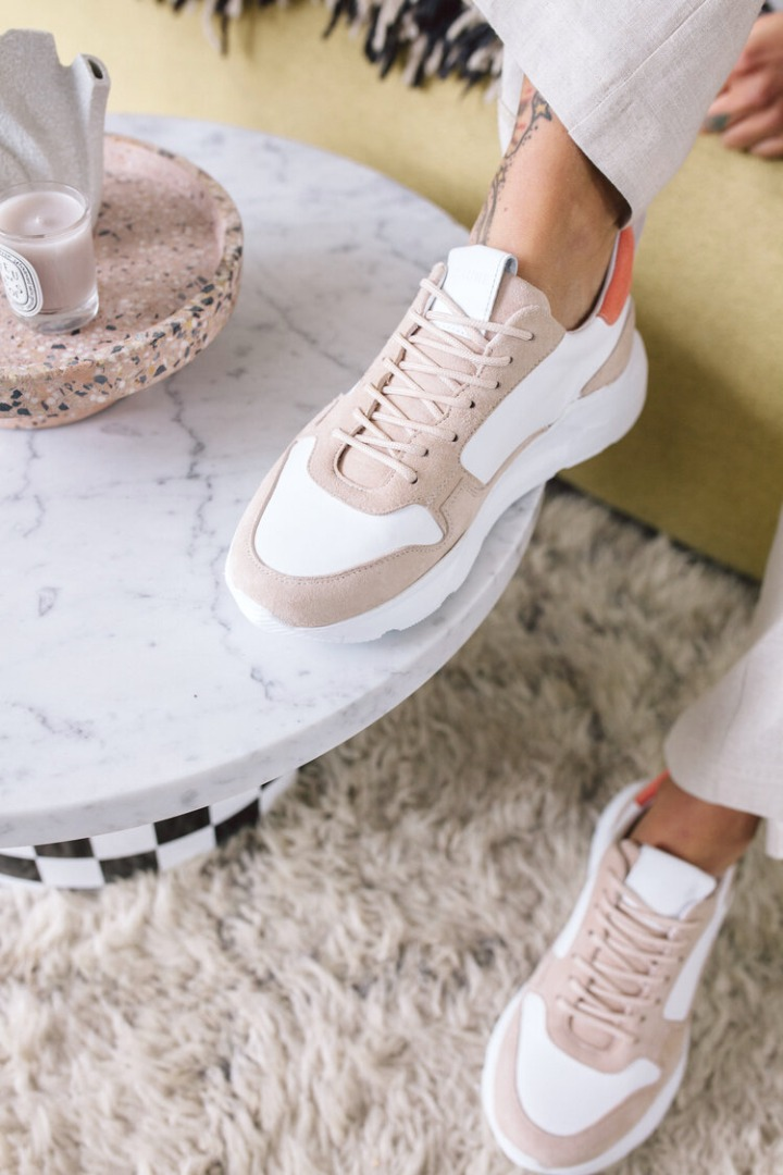 THE MANGO CHUNKY SNEAKERS - rosé