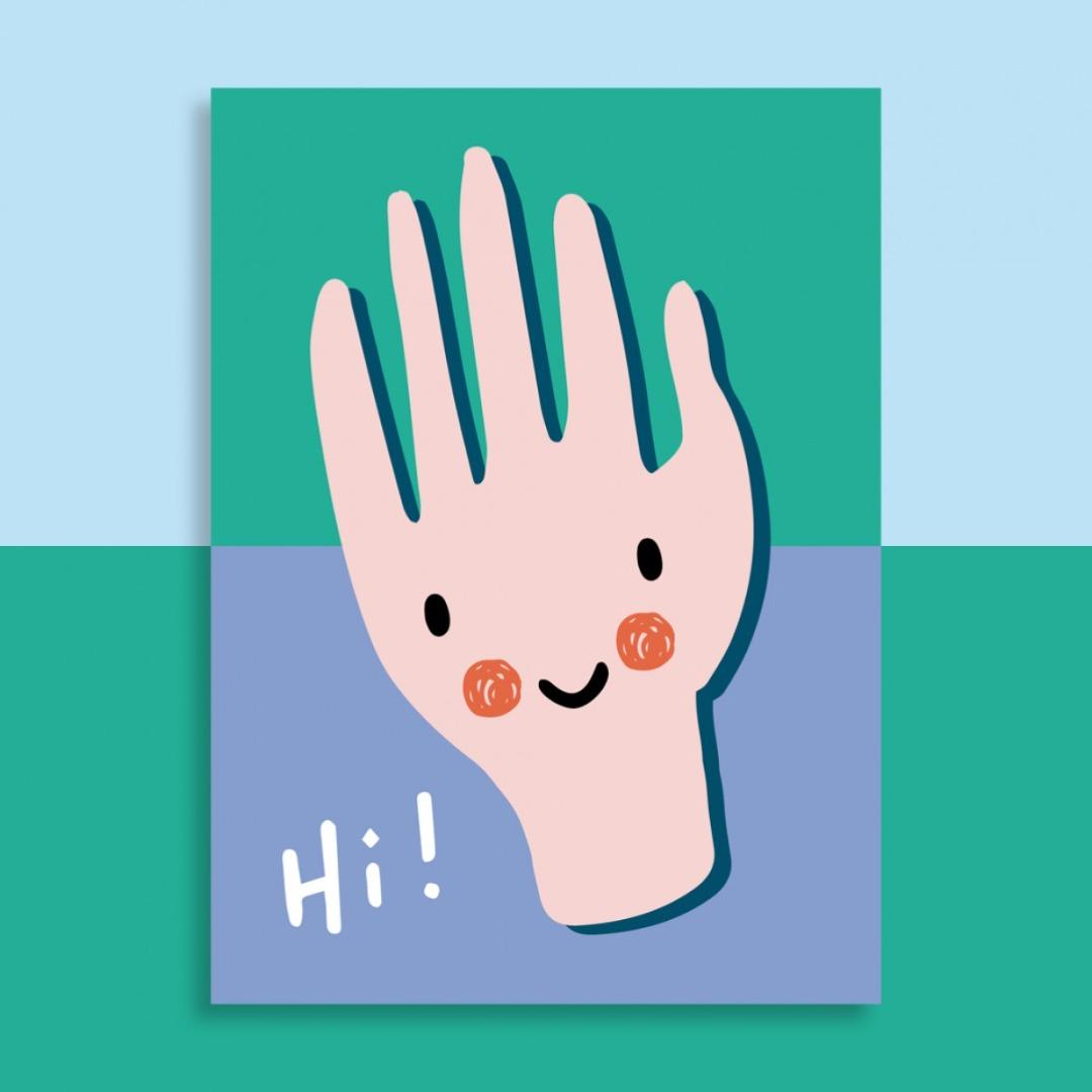 Postkarte - Hi
