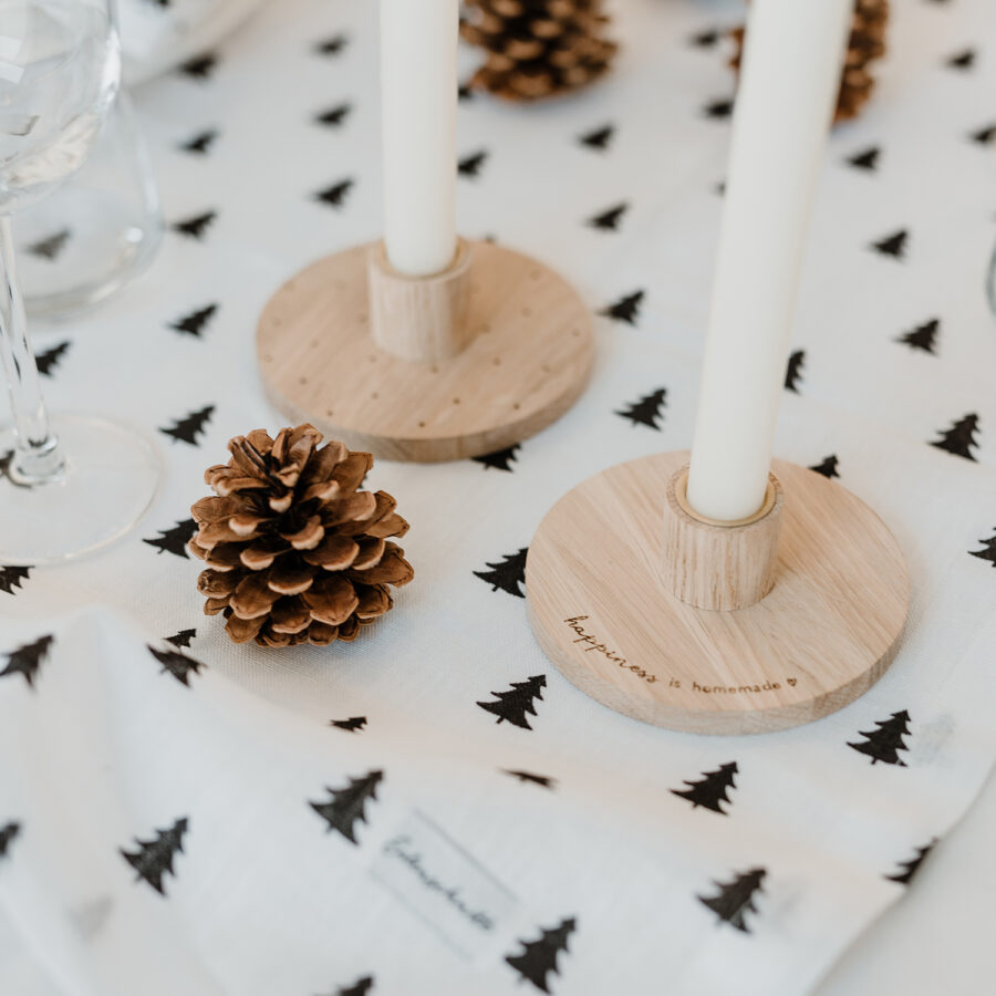 Eulenschnitt Kerzenständer Happiness is Homemade aus