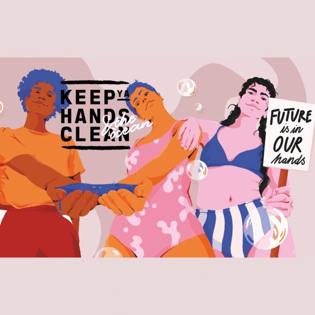 keep ya hands clean Hände-Desinfektion Ocean