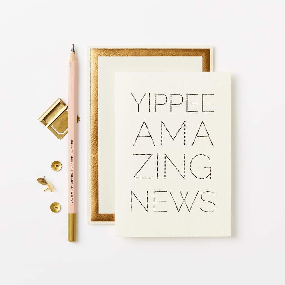 Klappkarte - YIPPEE DOTS CARD