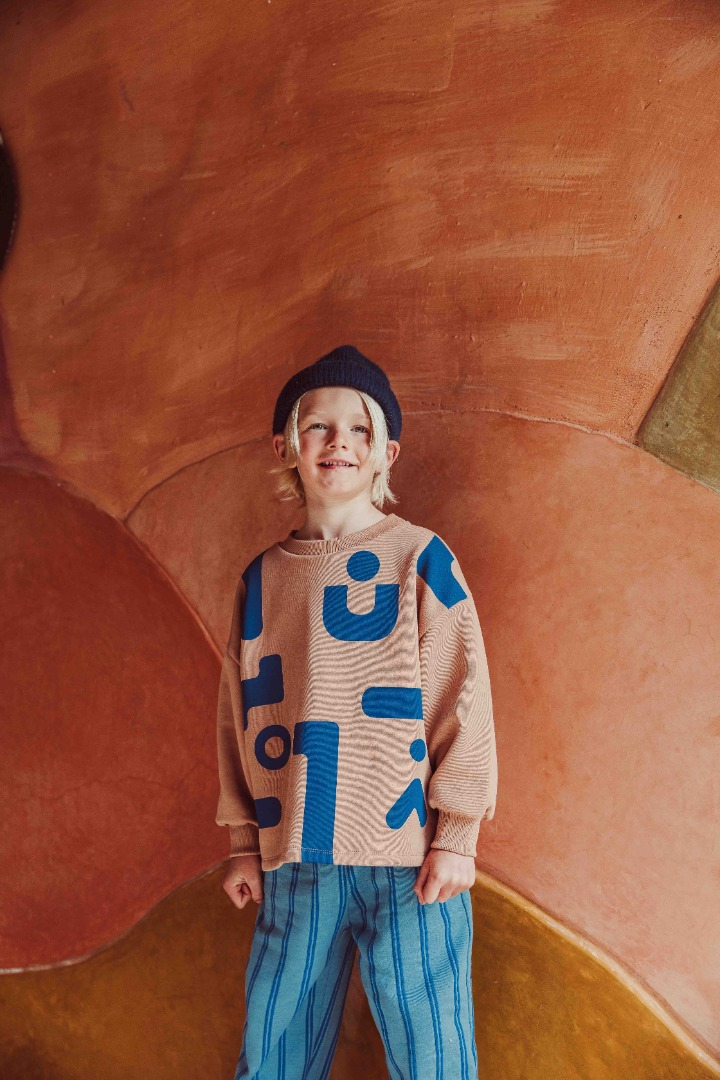 Monkind - Coral Oversized Pullover Kids