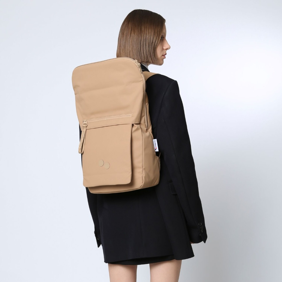 pinqponq Backpack KLAK - RAW UMBER