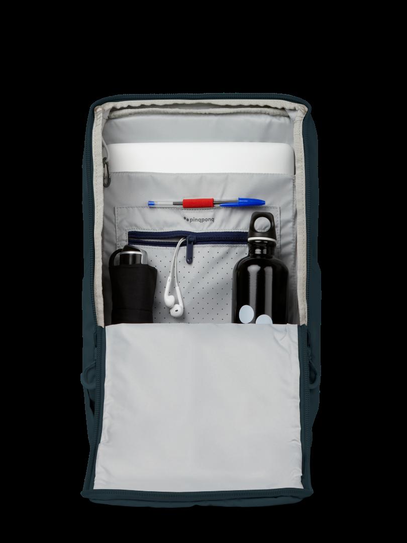pinqponq Backpack PURIK- Slate blue 6