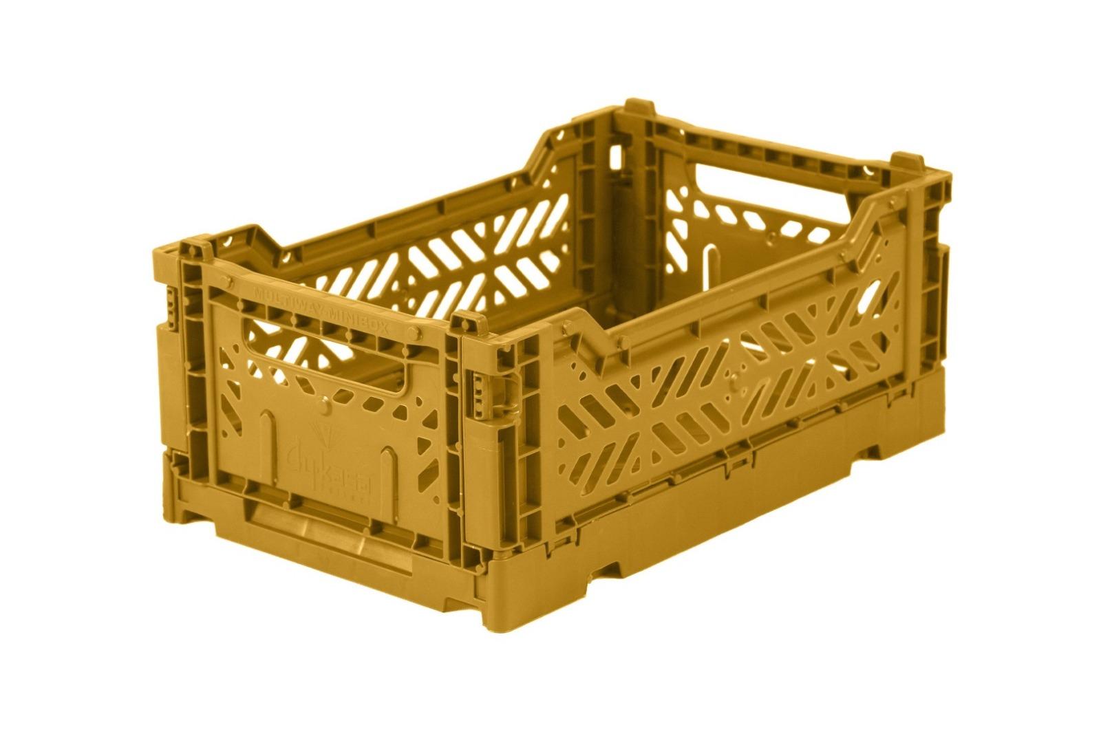 AyKasa Mini Storage Box - Mustard