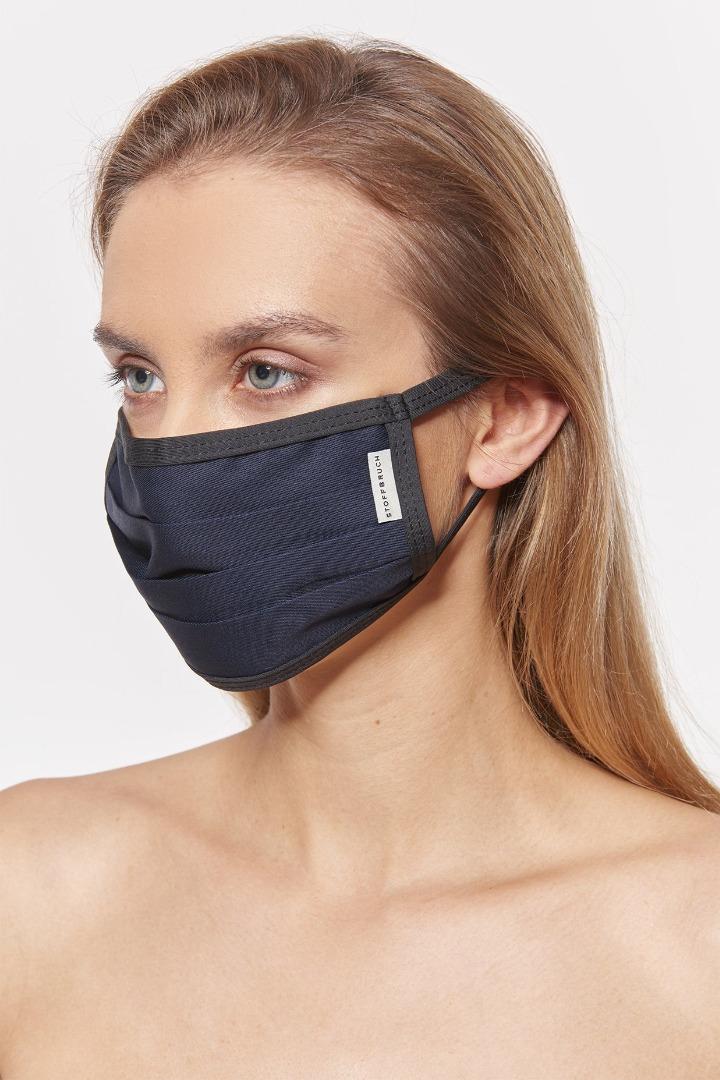 Mund-Nasen-Maske - Dark Blue 2