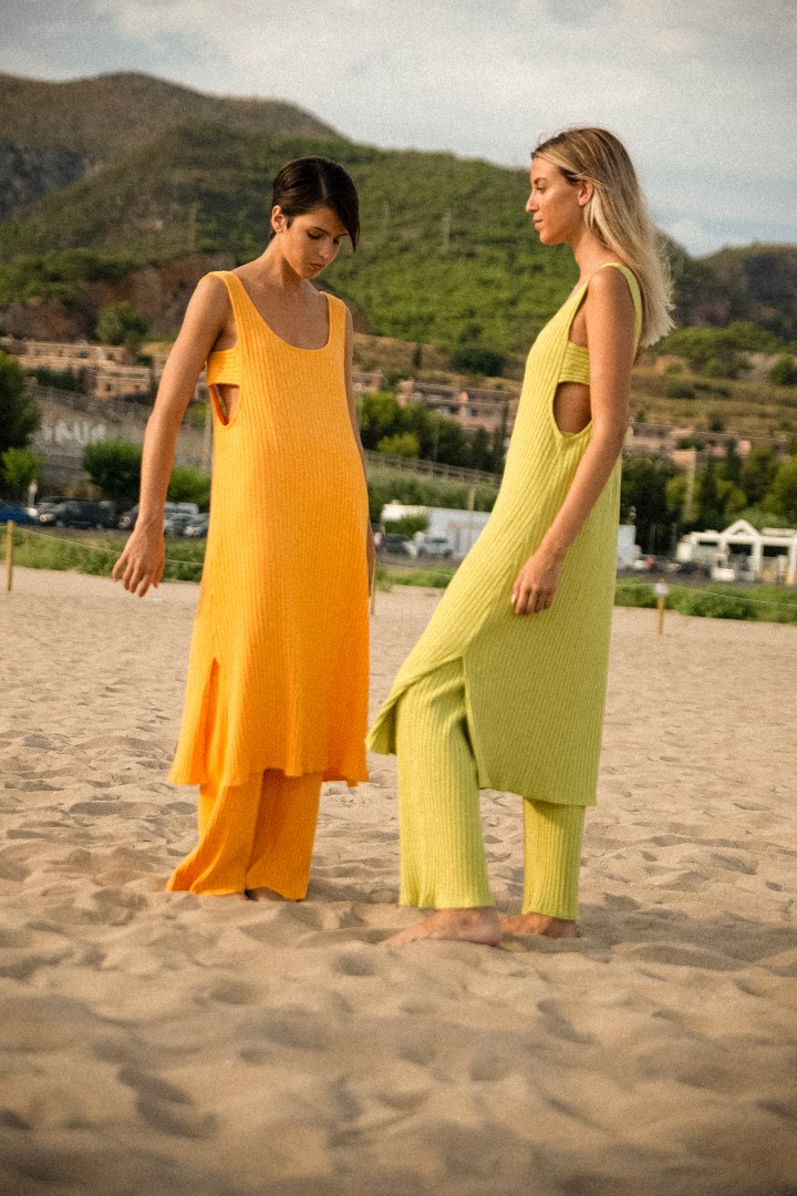 Clo Stories Norah organic ribbed dress
