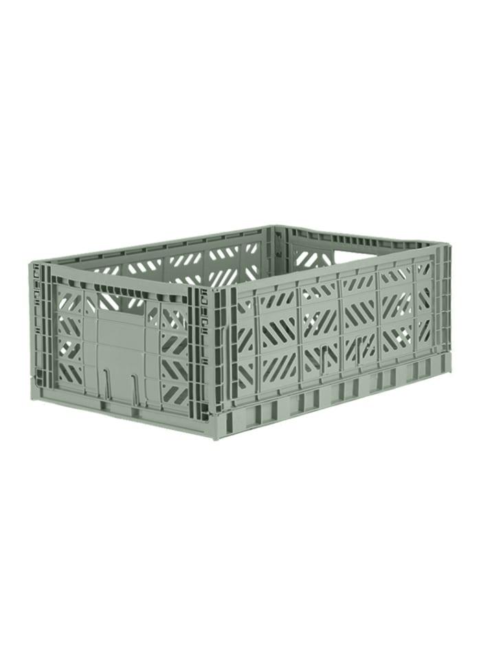 AyKasa Maxi Storage Box almond green