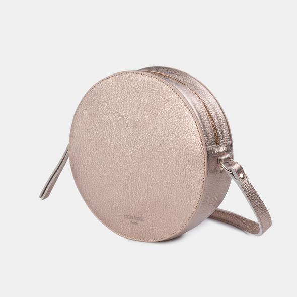 Pia Circle Bag - Metallic Rosè