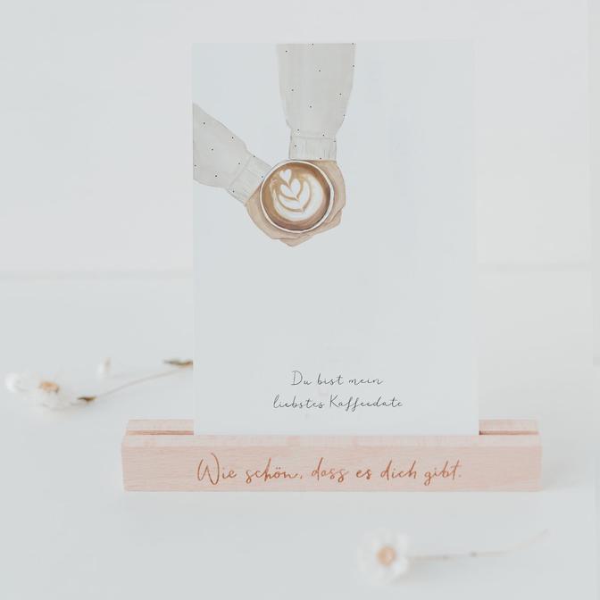 Eulenschnitt - Postkarte - Kaffee