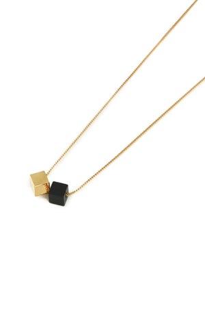 POTIPOTI Accessories Wood Gold Kette schwarz/gold-